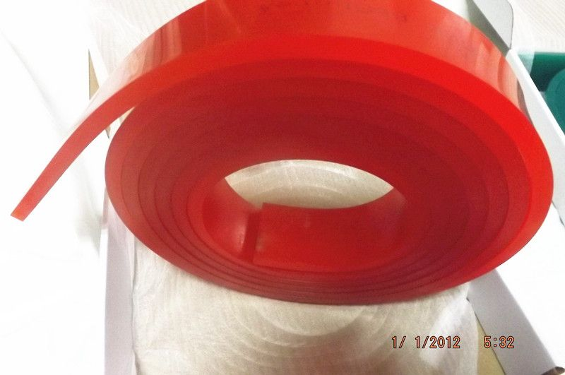 Free Shipping ! Red 50mm*9mm*4000mm!!! Screen Printing Flat Squeegee Rubber <font><b>Blade</b></font>_65A Durometer