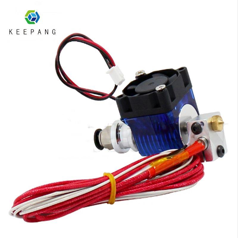 V5 V6 J-tête Hotend Extrudeuse Kit 3D Imprimantes Partie Support De Ventilateur De Refroidissement Bloc Thermistances Buse 0.4mm 1.75mm Filament Bowden