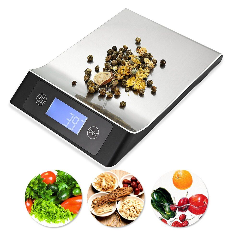 Stainless Steel 15KG/1G Portable <font><b>Balance</b></font> Digital Kitchen Scale With LCD Electronic Postal Platform Baking Diet Food Weight