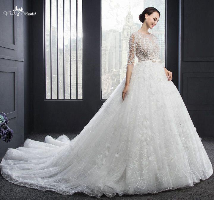 RSW978 Online Chinese Store Vestido De Noiva Princesa Luxo Wedding Gowns