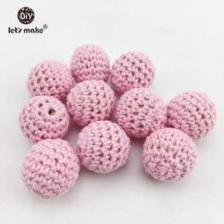Let's faire 20mm Ronde Crochet Perles 5 pcs DIY Soins Infirmiers Collier Accessoires BPA Livraison En Bois Anneau de Dentition Bébé de Dentition