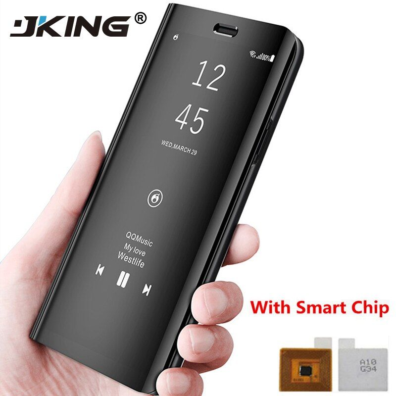 JKING Touch Flip Standplatz-fall für Samsung Galaxy S8 Plus S6 S7 Rand Note8 Note5 Telefon Fall Smart Chip Clear View Abdeckung