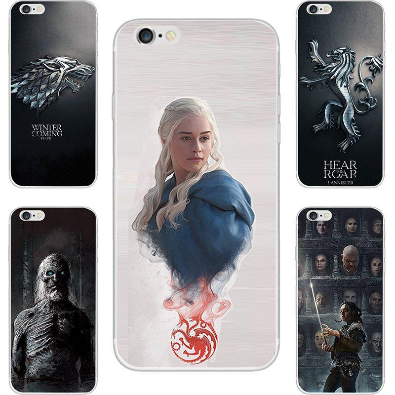 Spiel Der Throne Haus Stark Lannister Malerei Fall Für Apple iPhone 5 5C 5 S SE 6 6 S 6 6 S 7 8 10 X Plus Weichen TPU Gedruckt Abdeckung