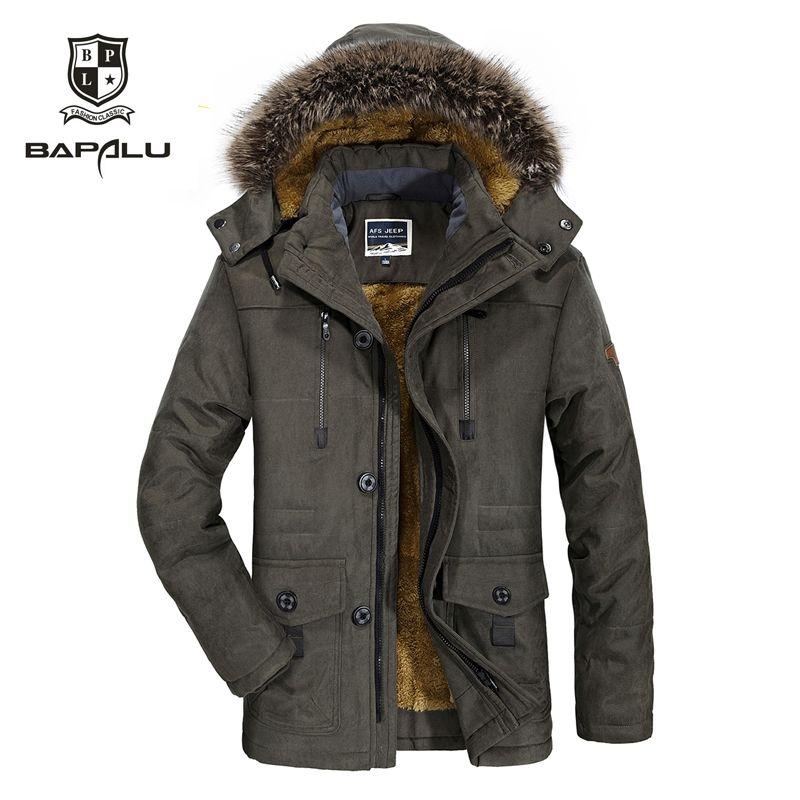 winter new jacket Men Plus velvet thickening warm Windproof jacket men's casual hooded jacket coat size L-4XL 5XL 6XL 7176