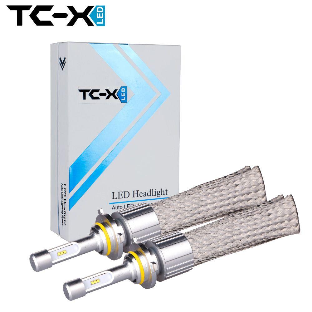 TC-X LLEVÓ la lámpara h7 H4 bombillas luces de Coches 9005/HB3 9006/HB4 9012 Carro Del Faro H11 Luz de Niebla llevada Auto 12 v Lumileds Luxeon ZES Chips