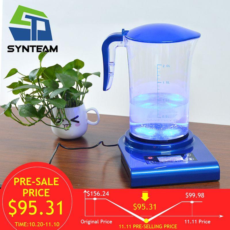 SYNTEAM Brand Hydrogen Generator Alkaline Water Ionizers 2.0L 100-240V Antioxidant ORP Hydrogen Water Maker/Machine WAC001