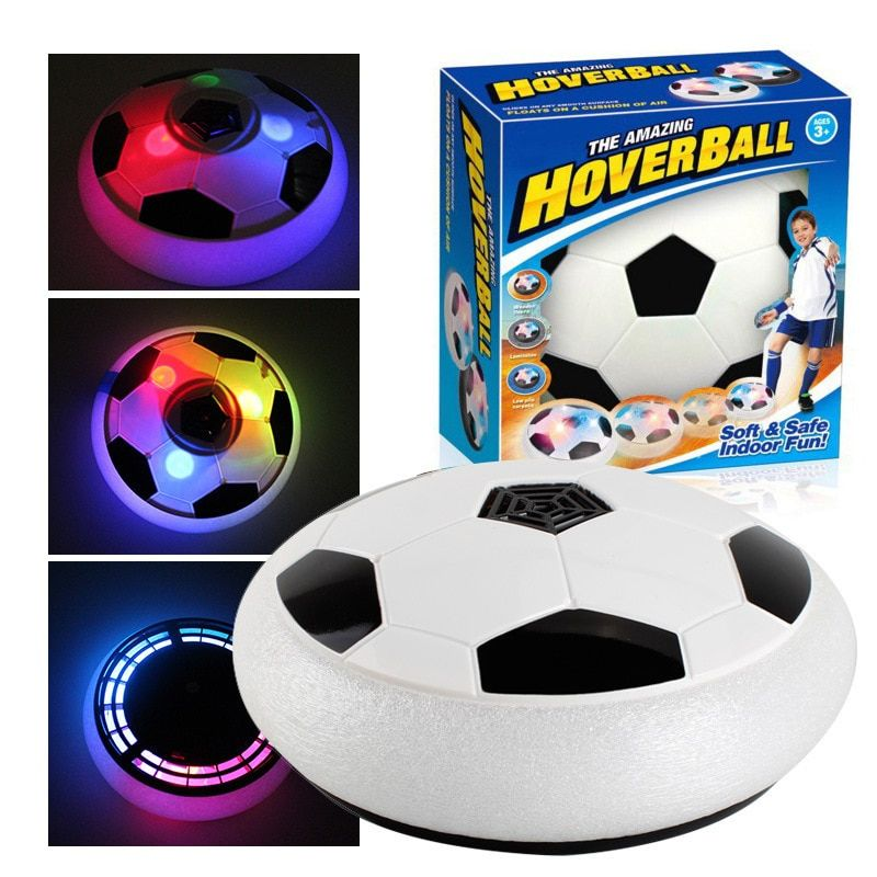 Flashing Kids Play Hover Soccer Fun Light Air Cushion Suspended Football Indoor Outdoor Sports Game Gift for Children Toy Ball