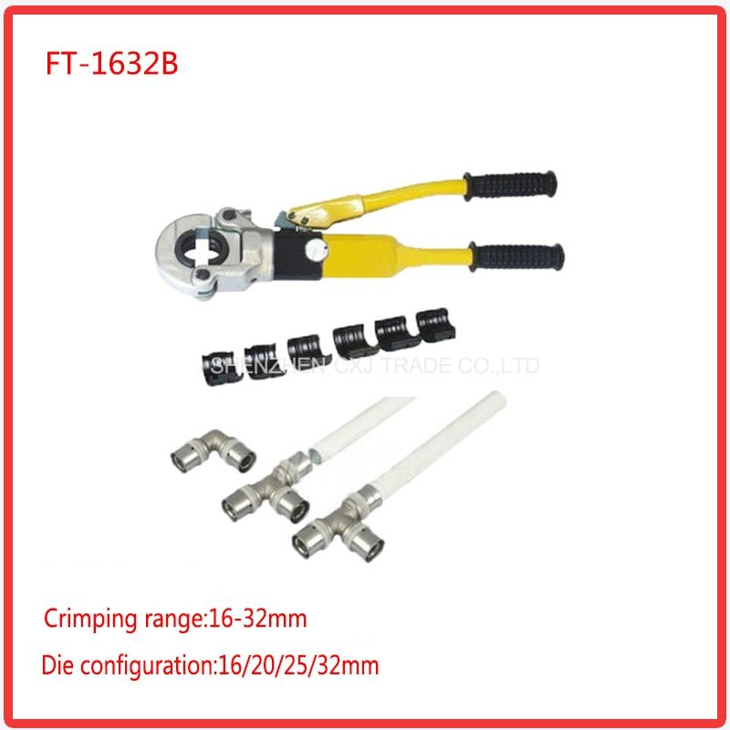 Free shipping by DHL 1pcs Hydraulic Fitting Tool FT-1632B for PEX pipe fittings PB pipe Copper AL connecting range 16-32mm
