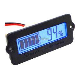 WS16 12 V-48 V Plomb-acide Au Lithium Bleu LCD Voltmètre Compteur Capacité De La Batterie Tester Indicateur Moniteur Analyseur 12 V 24 v 36 v 48 v De Voiture