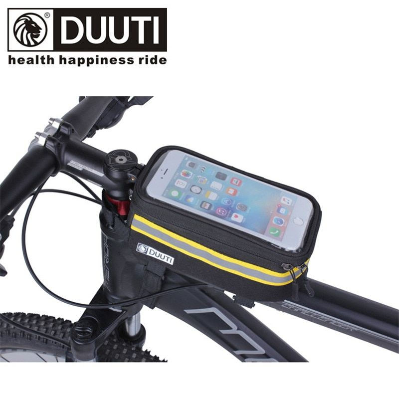 DUUTI bicycle bag mtb bike top tube bag for 5.7 inch phone cycling bags bycicle accessories touchable waterproof
