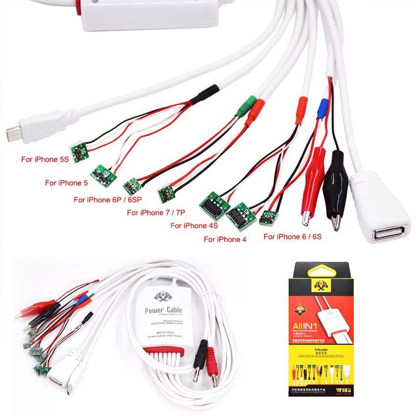 Tout en 1 Professionnel Courant D'alimentation Test Câble Batterie Frais D'activation pour iPhone 7 7 Plus 6 6 S 6 Plus 5S 5 4S 4