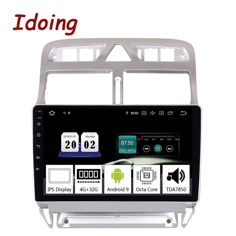 Idoing 9 2.5D Auto Android9.0 Multimedia Player Für Peugeot 307 307CC 307SW 2002-2013 PX5 4G + 64G 8 Core GPS Navigation TDA7850