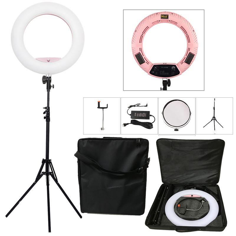 Yidoblo Pink FS-480II 5500K Dimmable Camera Photo/Studio/Phone/Video 18