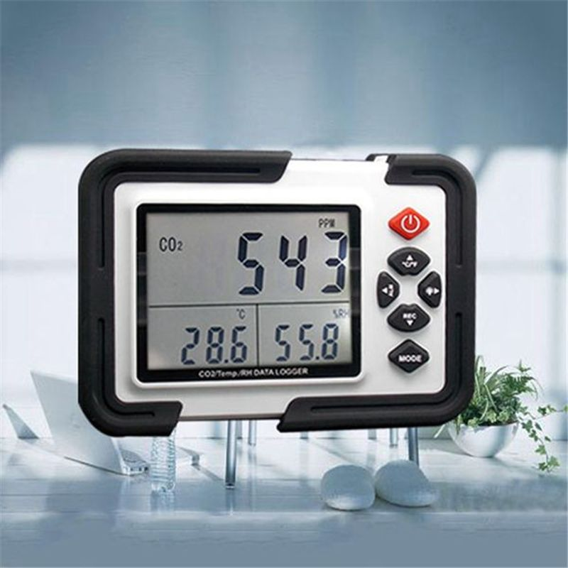 XINSITE HT-2000 Digital Carbon Dioxide Monitor CO2 Detection Analyzer Thermo Hygrometer Greenhouse Gas Detection Tool US Plug