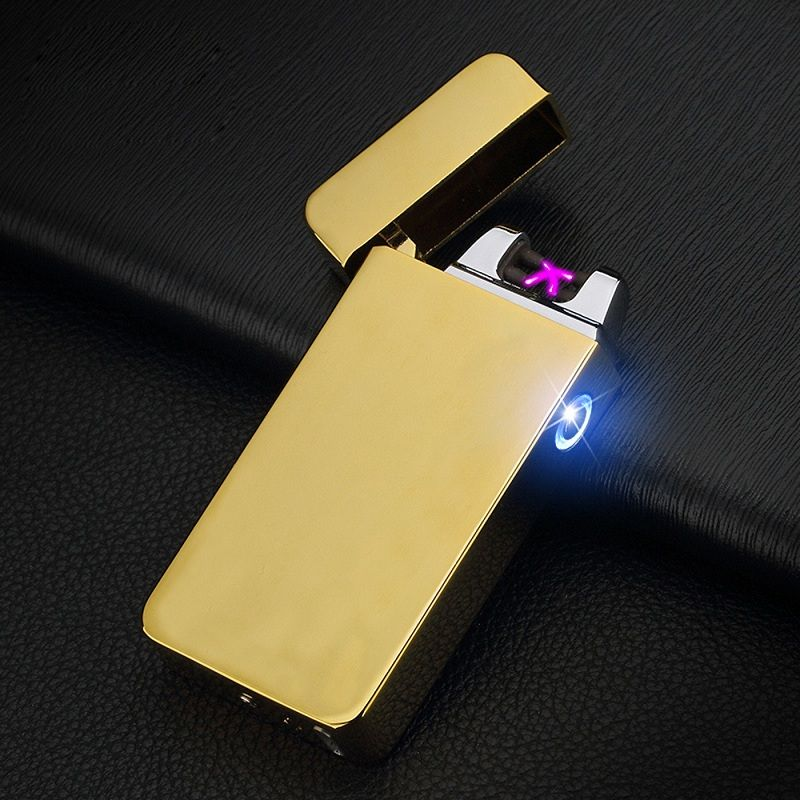2017 Double fire cross twin arc pulse Electronic Cigarette lighter electric arc Lighter colorful charge usb lighters sexy man