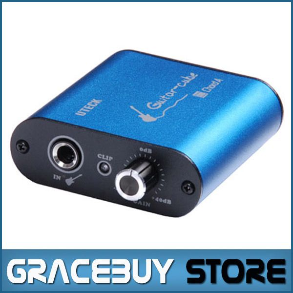 Uteck Guitar Cube ASIO Chord USB Audio Interface(DI) Fit For Soft(Guitar Rig JAMVOX AmpITube)