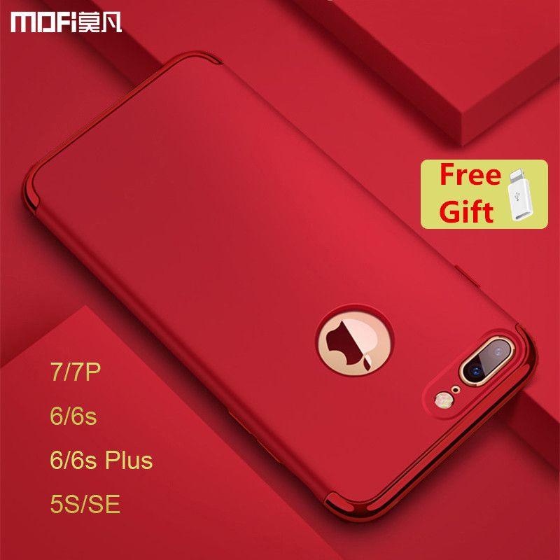 Pour iphone 7 plus cas de luxe protection MOFi pour iphone 6s plus cas Rouge pour iphone 5s SE cas de couverture pour iphone 7 6 s capa coque