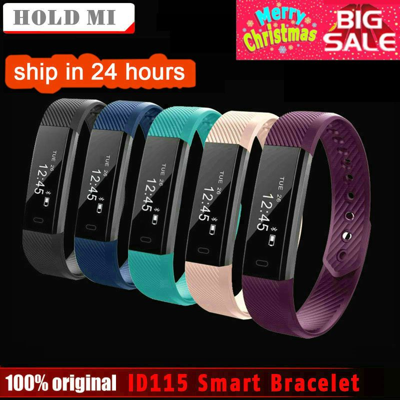 HoldMi ID115 Smart Bracelet Fitness Tracker Step Counter Activity Monitor Band Alarm Clock Vibration Wristband IOS Android phone