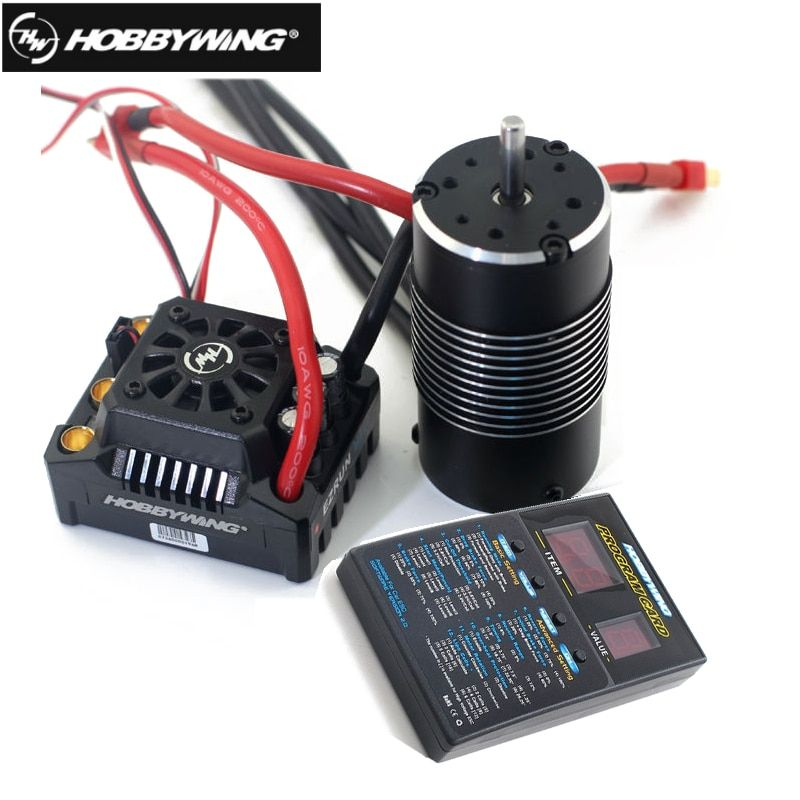 1pcs Hobbywing EzRun Max8 v3 150A Waterproof Brushless ESC T / TRX Plug + 4274 2200KV Motor +LED Programing for 1/8 RC Car Truck
