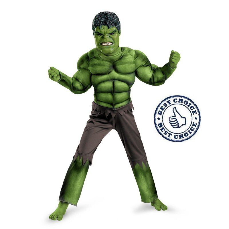 Factory Direct Selling Boys Hulk Muscle Cosplay Clothing Kids Avengers Superhero Movie Role Play Party Halloween Purim Costumes