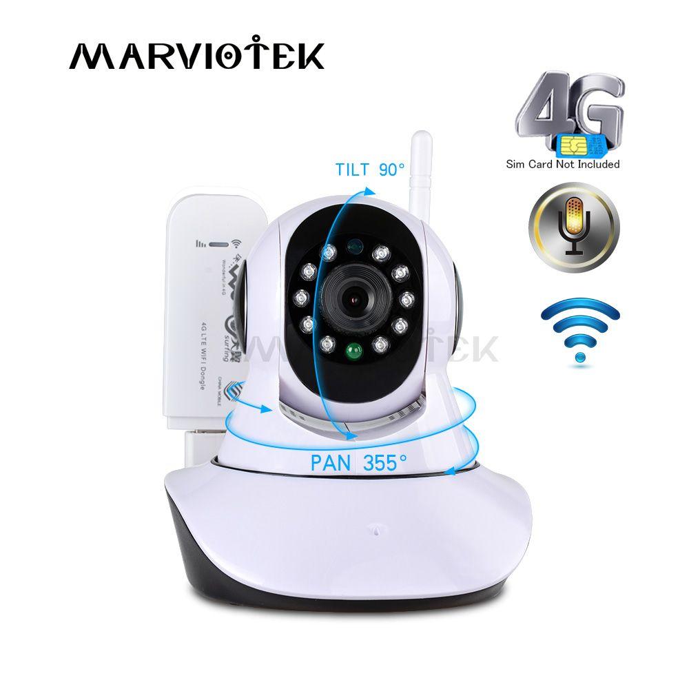 720 P caméra IP sans fil avec caméra wifi surveillance vidéo 360 degrés panoramique inclinaison 4G caméra de vidéosurveillance 3G avec fente pour carte sim ipcam IR
