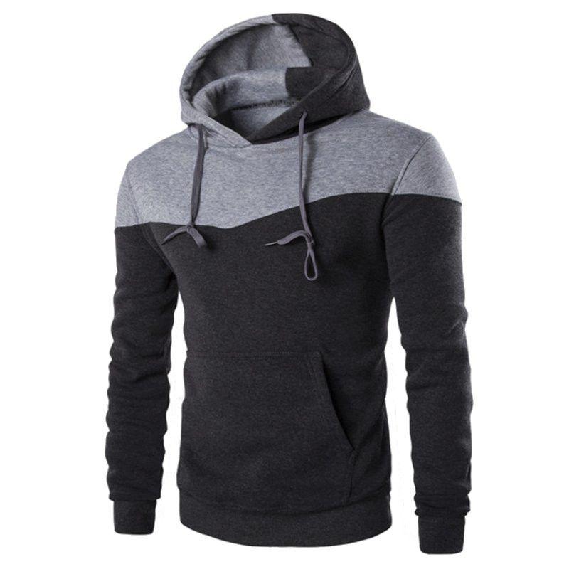 2018 Men Spring Autumn Hooded Hoodies Sweatshirt Hoodie Casual Hip Hop Male Outwear Sportswear Slim Hoody Pullover Sudaderas