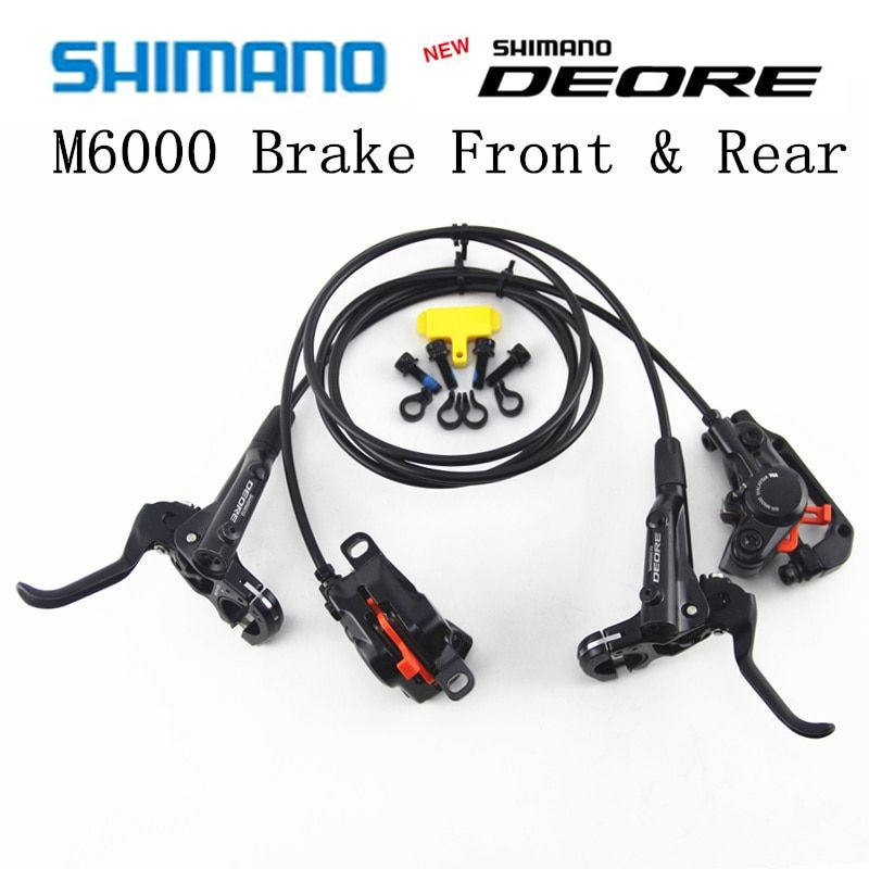 SHIMANO DEORE M6000 Brake Mountain Bikes Hidraulic Disc Brake MTB BR BL-M6000 DEORE Brake 800/1500 Left & Right