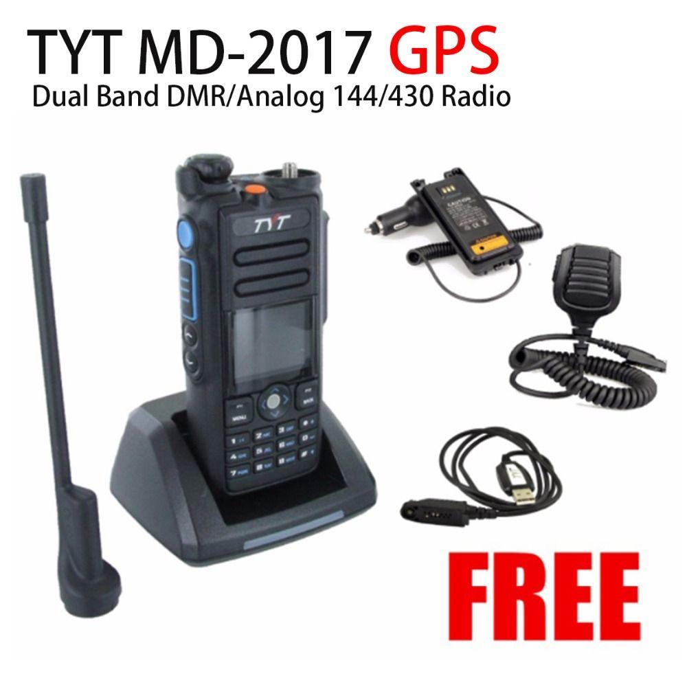 TYT MD-2017 GPS Dual Band DMR/Analog 144/430 Radio