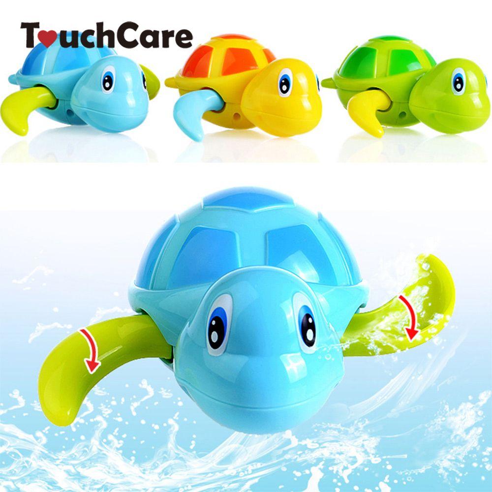 Newborn Cute Cartoon Animal Tortoise Baby Bath Toy Infant Swim Turtle Chain Clockwork Classic Toys Kid Educational Toys