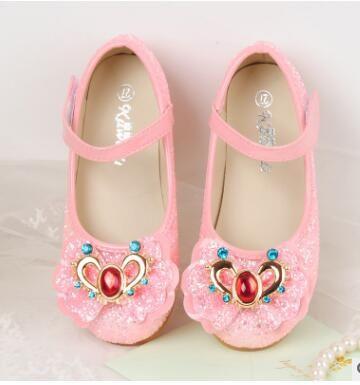 2018 Shay el último otoño niñas solos zapatos, de fondo plano zapatos de la princesa, niños Otoño, arco nudos, lentejuelas