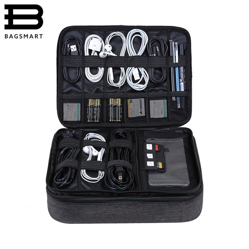 BAGSMART Travel Accessories Bags Date Cable Digital Finishing Bag Data Charger Wire Bag Mp3 Earphones Usb Flash Drive Bag