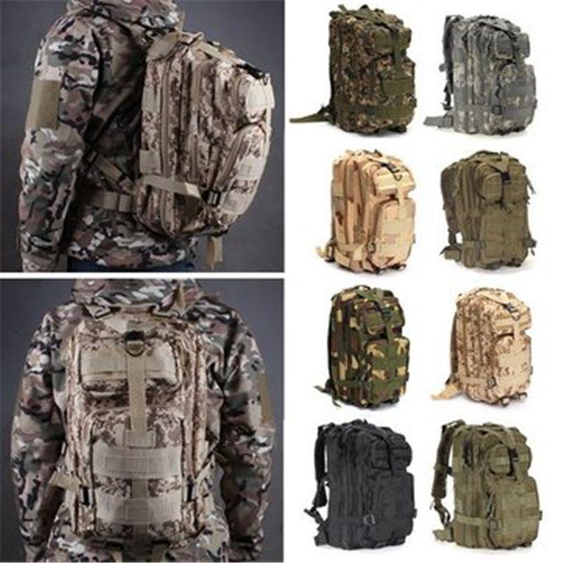 2018 30l Waterproof Nylon Attract Military Camo 3p Backpack Rucksack Trekking Shoulder Bag Pack ;Paquete De Tactica Militar