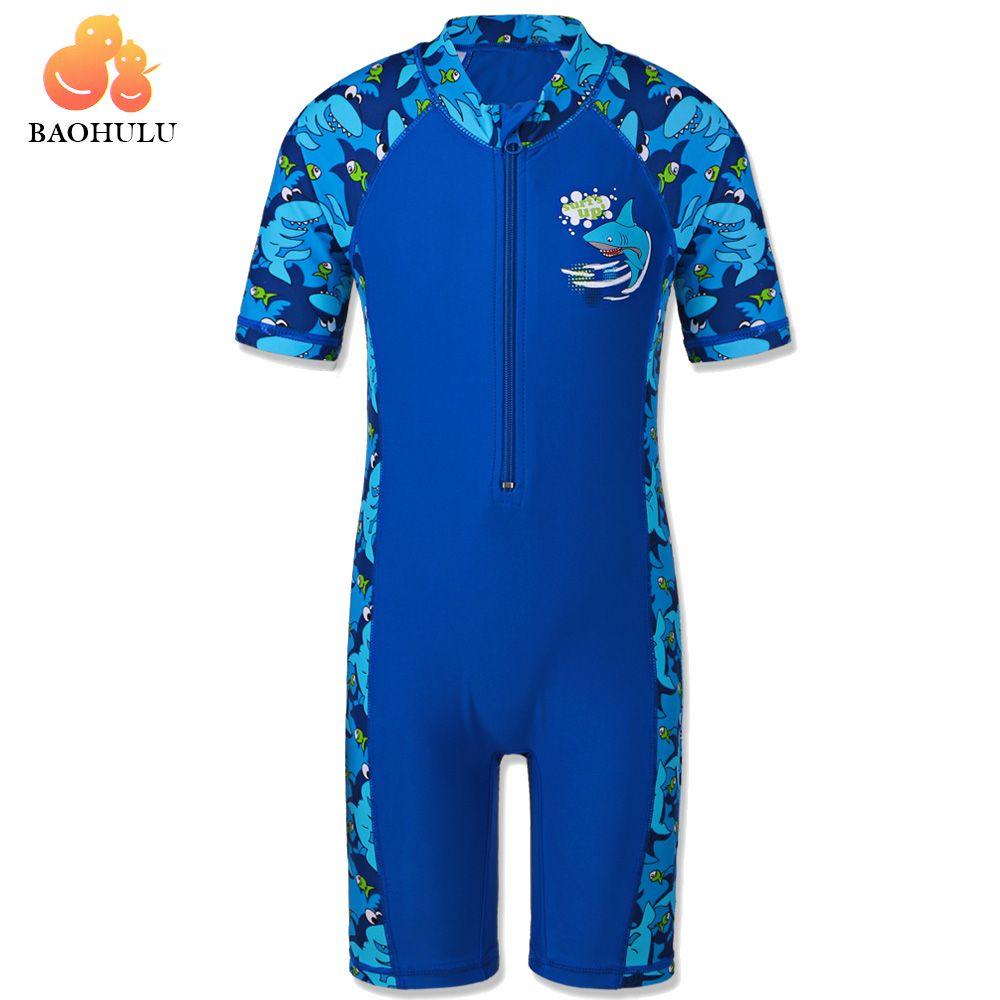 BAOHULU requin personnage enfants maillots de bain (UPF50 +) maillot de bain une pièce garçon enfants maillots de bain costume de natation pour garçons 3-10 ans
