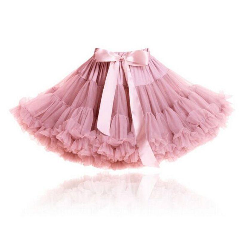 Пушистая шифоновая юбка-американка юбка-пачка для девочек 2-18 лет юбка для танцев рождественская нижняя юбка из тюля
