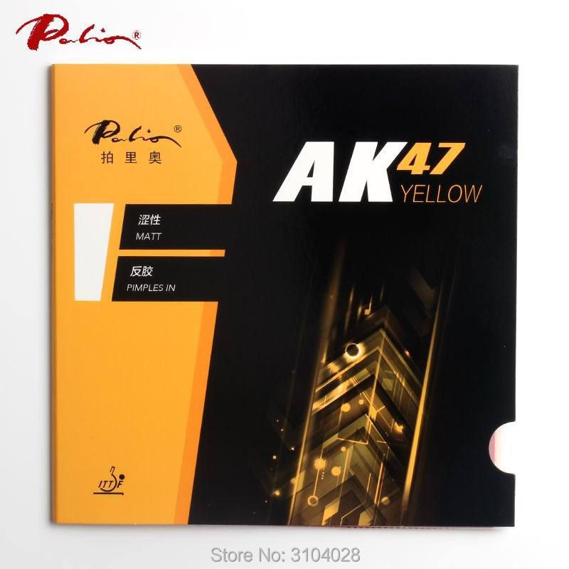 Palio official 40+ yellow Ak47 <font><b>table</b></font> tennis rubber yellow sponge for loop and fast attack new style for racquet game ping pong