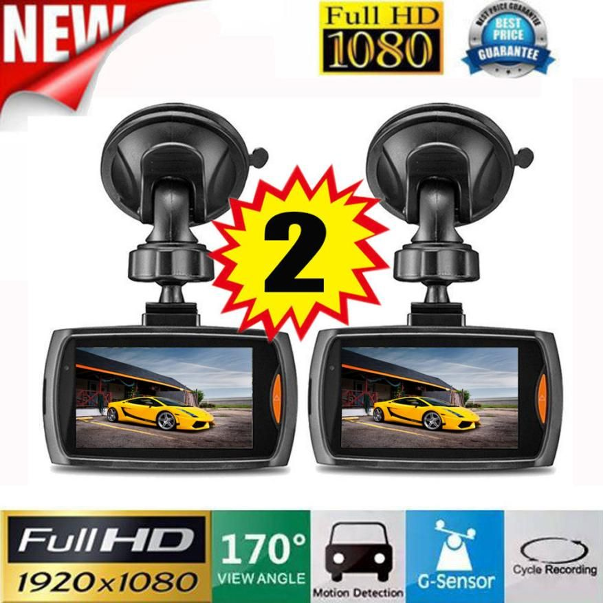 CARPRIE New 2x Car 1080P 2.4 Full HD DVR Vehicle Camera Dash Cam Video Recorder G-sensor Night Vision 170 degree Lowest price