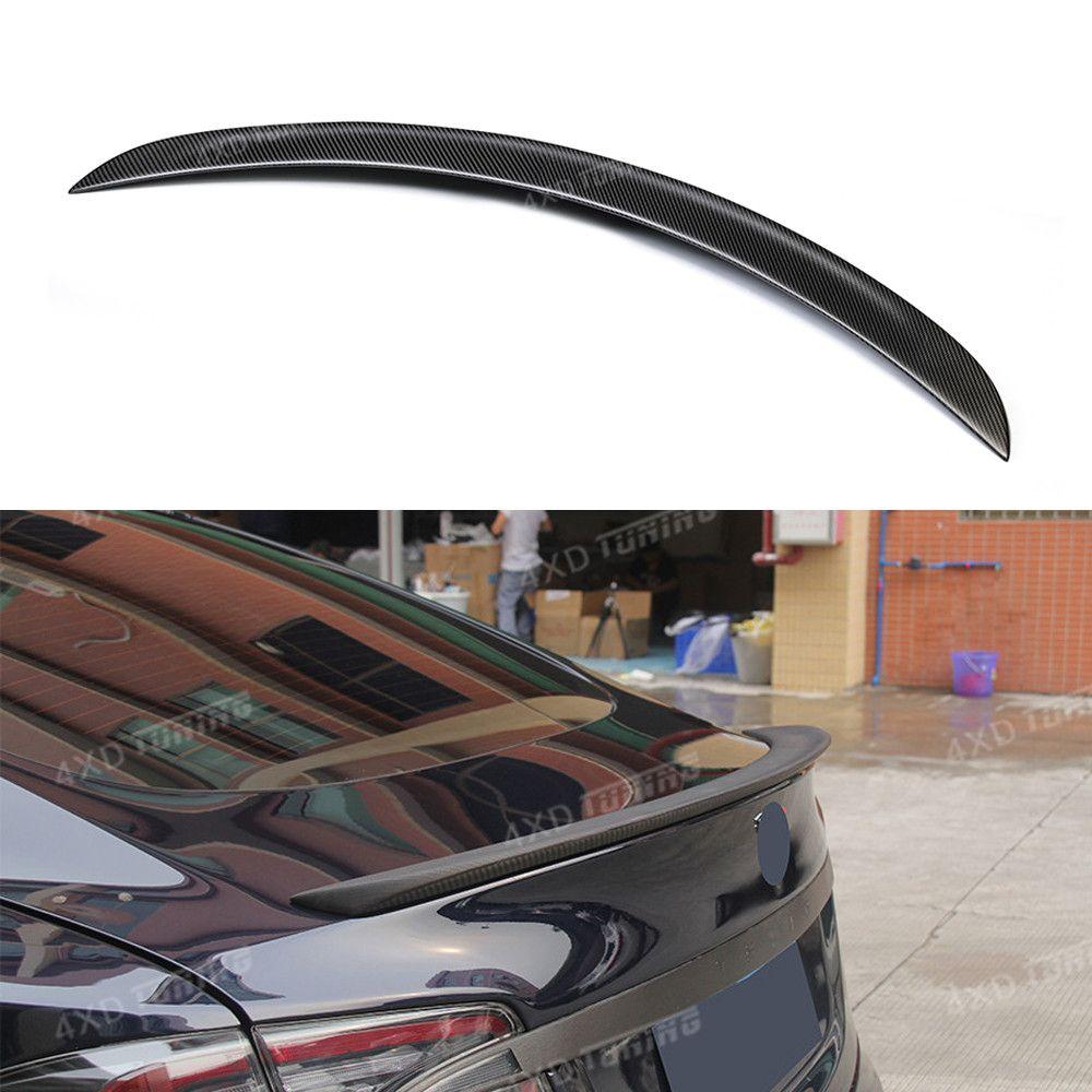 Matt Black Finish For Tesla Model S Carbon Spoiler Model S Carbon Fiber Rear Trunk Wing Spoiler 2012 2013 2014 2015 2016 2017-UP