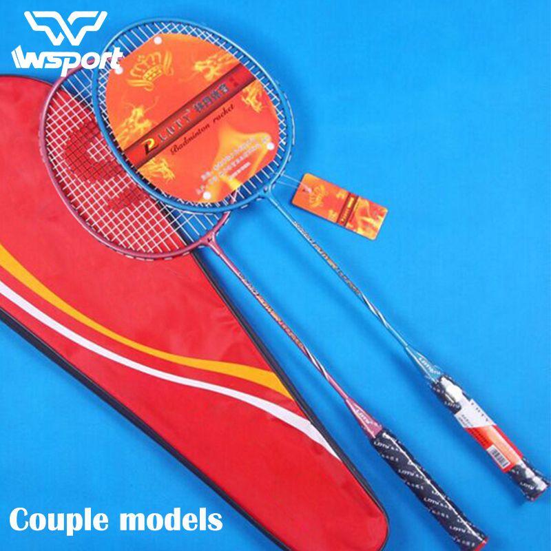 JUNRUI paar models100 % Original Full Carbon Badminton Schläger Raquette Licht Gewicht Carbon Sport Anzug für Anfänger 1 para