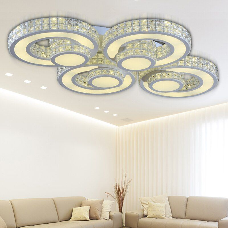 crystal Modern Led Ceiling lights for Living Room Bedroom luminaria kristal tavan aydinlatma flushmount Ceiling Lighting lamp