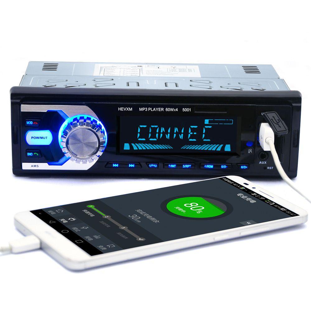 LaBo 1Din In-Dash Car Radio Bluetooth Stereo Player Handsfree AUX-IN USB/SD Card MP3 Player 12V Car Audio Fm Radio Car-styling