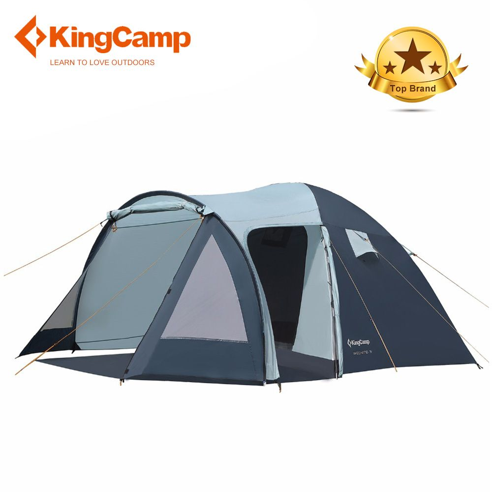 KingCamp Camping Tent 3f ul gear beach tent 1 2 5person lanshan 2 hillman ultralight tent dream tents outdoor camping