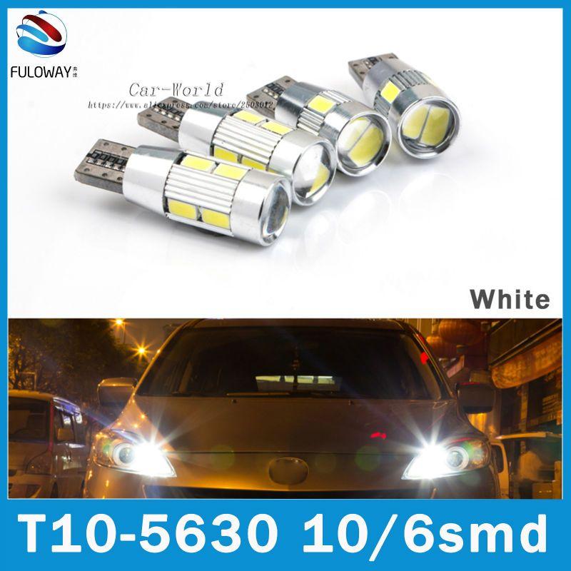 2 шт. Новый Белый супер яркий T10 W5W светодиодные фонари 5630 194 192 168 DC 12 В авто лампы распродажа Чтение свет лампы световой сигнал