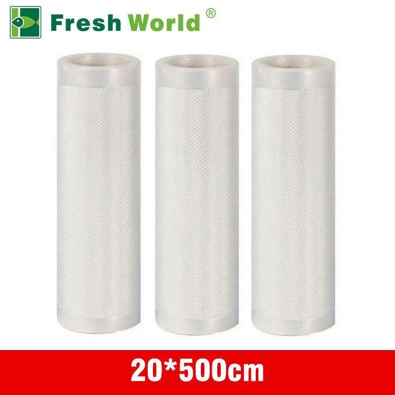 Vacuum Sealer Rolls 20x500cm For Food Vacuum Bag Sealer Fresh World Kitchen Vacuum Packaging Rolls