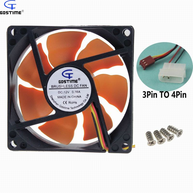 1 Stück 8 CM Ultra Ruhigen Stillen Lüfter 80mm 25mm DC 12 V für PC CPU Computer Chassis Fall Gdstime kostenloser versand