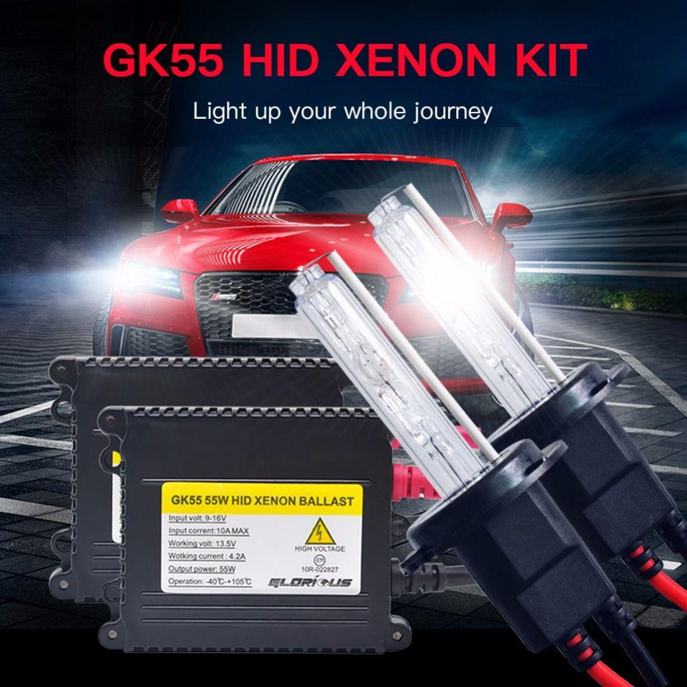 AC 55W Xenon H1 H3 H4 H7 H8 H9 H11 9005 9006 881 D2S Digital Ballast Hid xenon kit 4300K 6000K 8000K Xenon Lamp Car Light