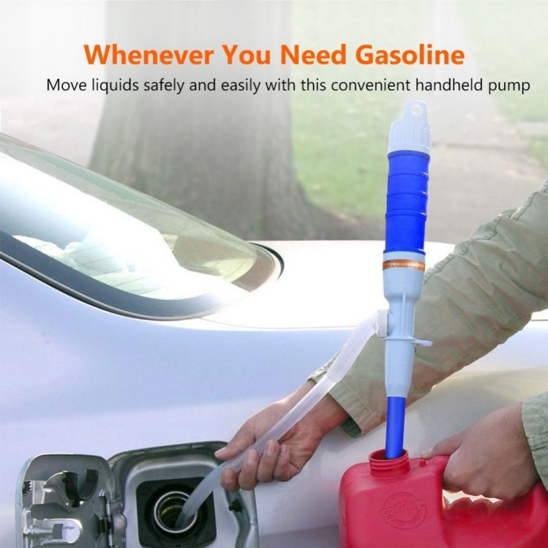 Handheld Pump Battery Operated Liquid Transfer Water Gas Tools Petrol Fuel Portable Car Siphon Hose Outdoor Car Auto Vehicle