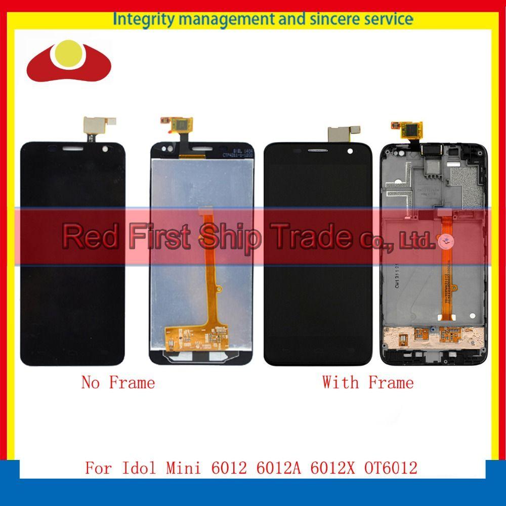 Pour Alcatel One Touch Mini Idol 6012 6012D OT6012 Lcd Full Display Avec Écran Tactile Digitizer Assemblée Complet Avec Cadre