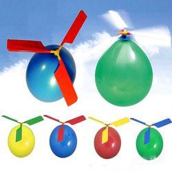 1 Set Klasik Balon Pesawat Helikopter untuk Anak-anak Anak-anak Terbang Hadiah Mainan Di Luar Ruangan Mainan