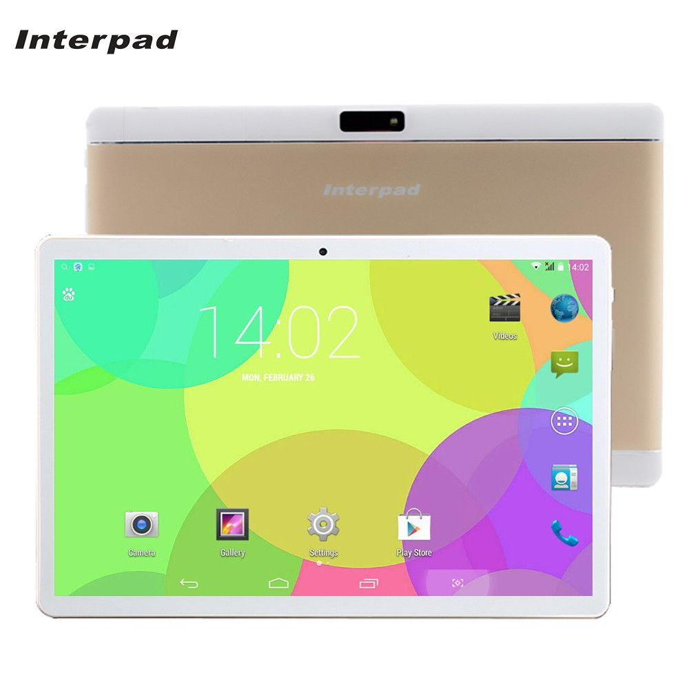 Interpad Tablet 10.1 MTK6582 Quad Core 3G tablet android SIM WIFI Bluetooth GPS 2GB RAM <font><b>16GB</b></font> ROM 10 android tablets pc tablette