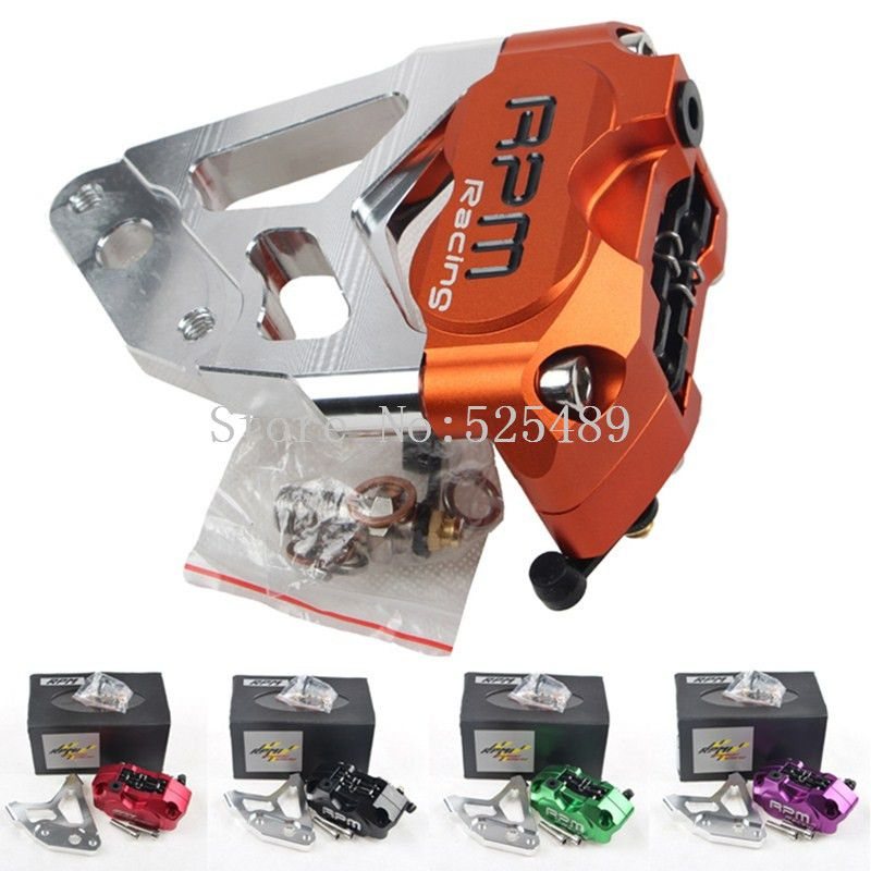 RPM CNC Motorcycle 30mm Front Fork Brake Calipers+200mm/220mm Disc Brake Disks Brake Pump Adapter Bracket For Yamaha pit bike